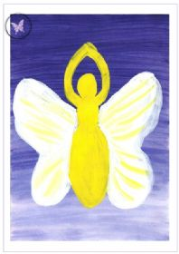 Art Greeting Card - Winged Goddess